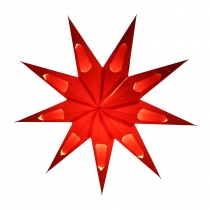 Foldable Advent Starlight Paper Star, Christmas Star Aquarius