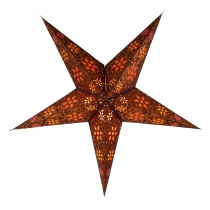 Foldable Advent illuminated paper star, Poinsettia 60 cm - Anubis..