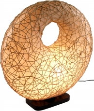 Table lamp/table lamp, fiberglass, rattan - Rasunda II choice