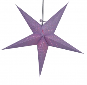 Foldable Advent illuminated paper star, Poinsettia 60 cm - Hermes