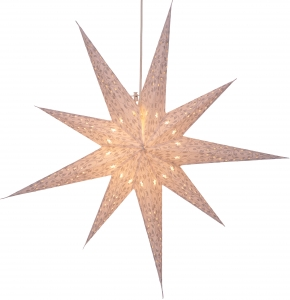 Foldable Advent light paper star, Christmas star 80 cm - Fiore white