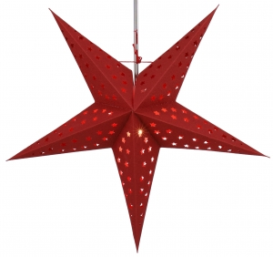 Foldable Advent illuminated paper star, Poinsettia 60 cm - Moonrock red