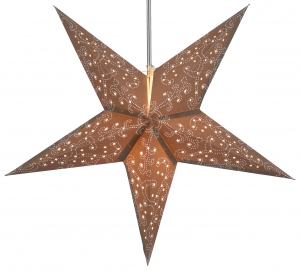 Foldable Advent illuminated paper star, Poinsettia 60 cm - Tantalos brown