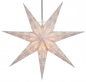 Foldable Advent illuminated paper star, Poinsettia 60 cm - Orpheus