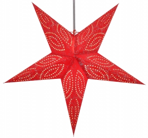 Foldable Advent illuminated paper star, Poinsettia 60 cm - Demian red