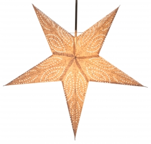 Foldable Advent light paper star, Christmas star 60 cm - Demian nature