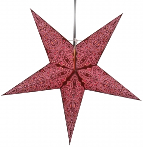 Foldable Advent illuminated paper star, Poinsettia 60 cm - Calea pink