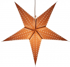 Foldable Advent illuminated paper star, Poinsettia 60 cm - Maratea grey