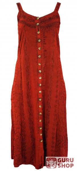c092556d84c0 Embroidered Boho summer dress, Indian hippie strap dress, red - Design 16
