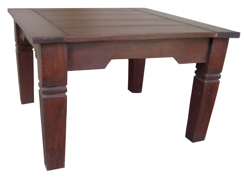 - Dark Brown Square Coffee Table - Model 7 - 40x60x60 Cm
